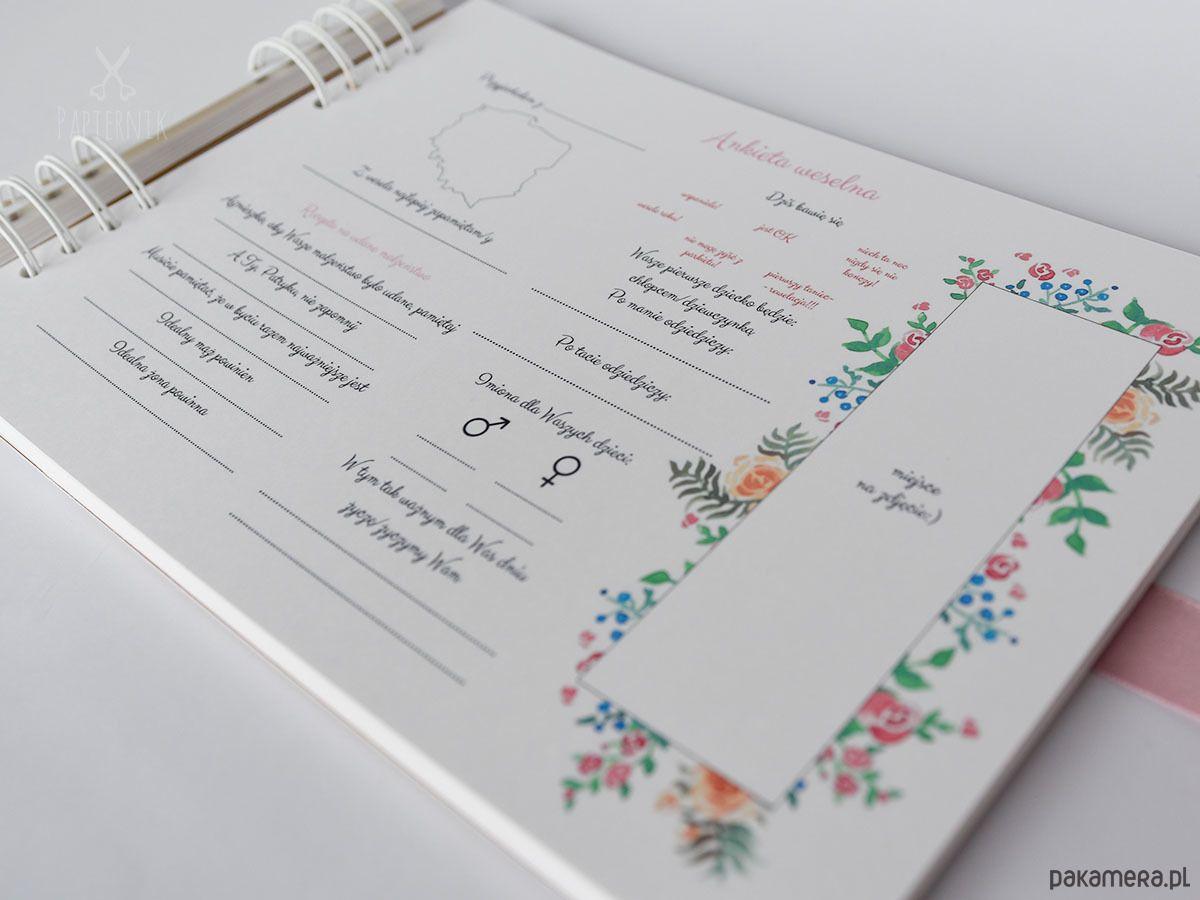 Ankiety Weselne 50 Kart Fotobudka Pakamera Pl Wedding Gifts Bullet Journal