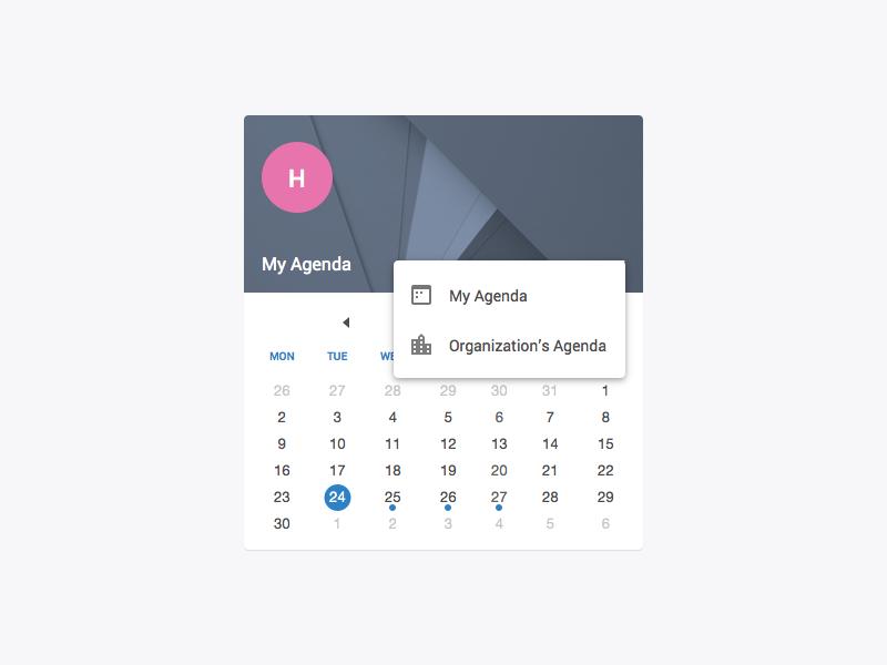 Calendar Widget - Sketch Freebie