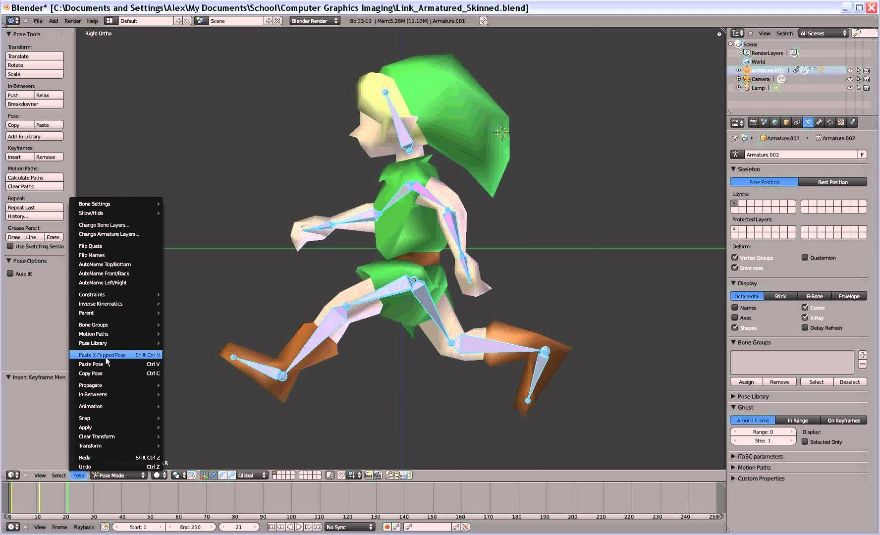 making a simple walk animation blender pinterest animation
