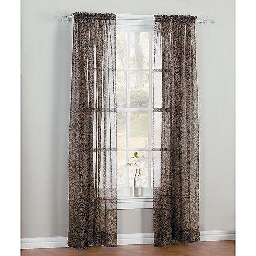 Animal Leopard Print Window Covering Panel Curtain