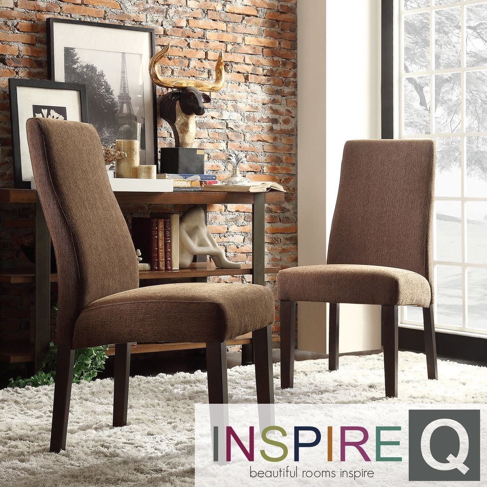 INSPIRE Q Marcey Chocolate Chenille Wave Back Dining Chair (Set of 2) by  iNSPIRE Q. Parsons ChairsDining Room FurnitureThe ...