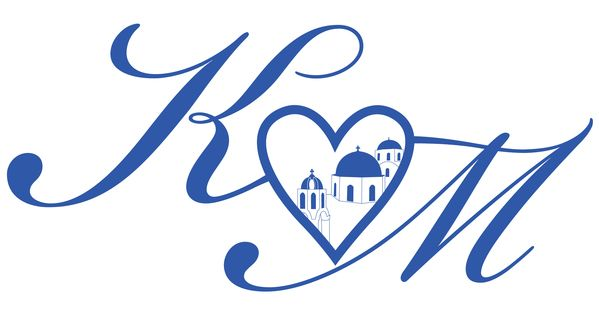K M Santorini Wedding Logo By Tilly Pollard Via Behance Wedding