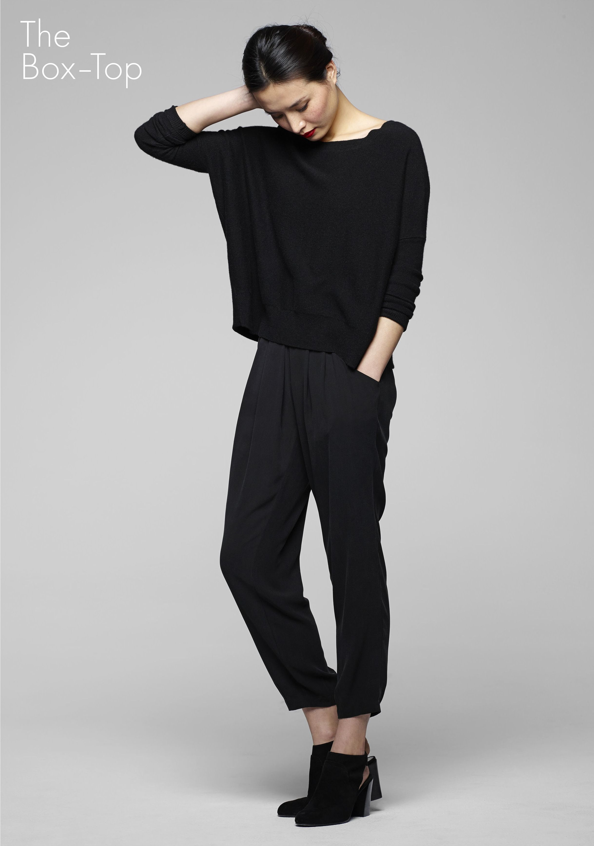 e55825621d68a4 eileen fisher icons collection : cashmere box top #EF30 | New Loves ...