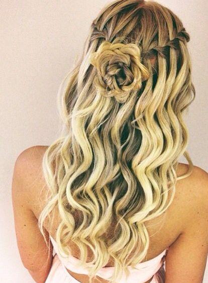 Waterfall Braid Into A Rose Twist Bun Hairgoals H A I R In