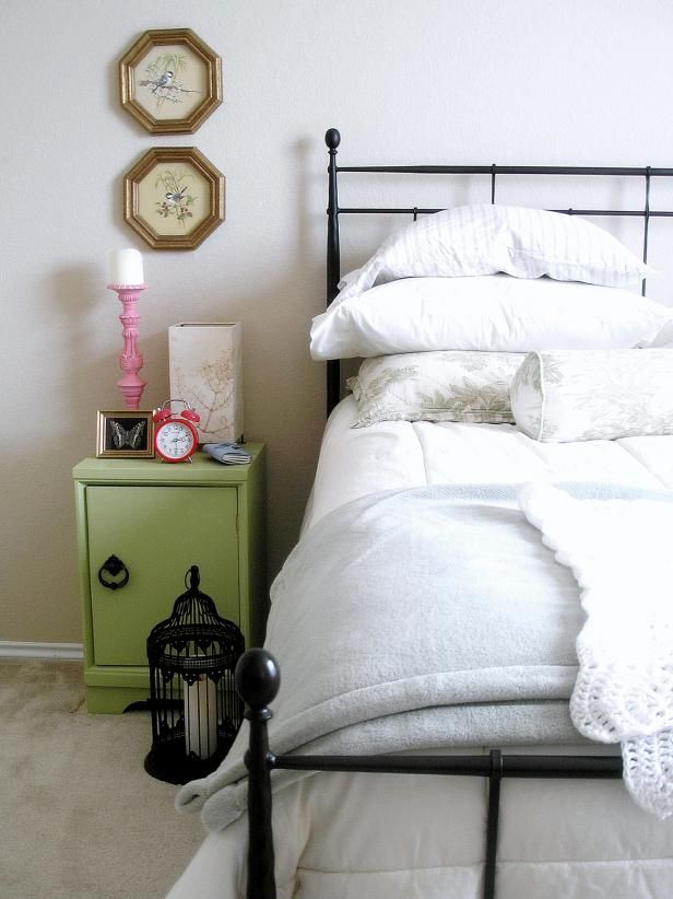 See The Lovely Wrought Iron Bed Featured In This Eclectic Bedroom On Hgtv