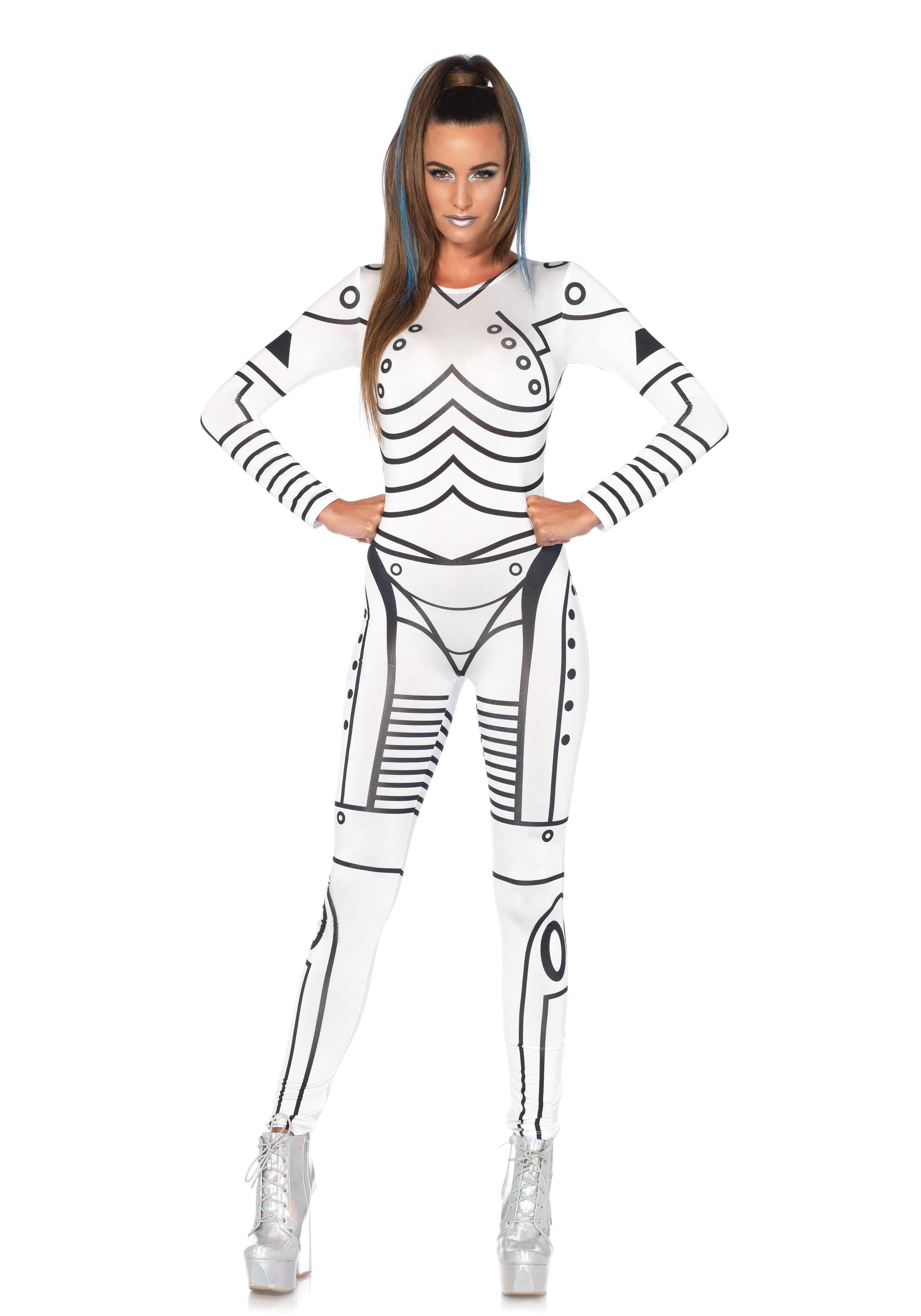 leg avenue killer robot costume #halloween #white #black #morph