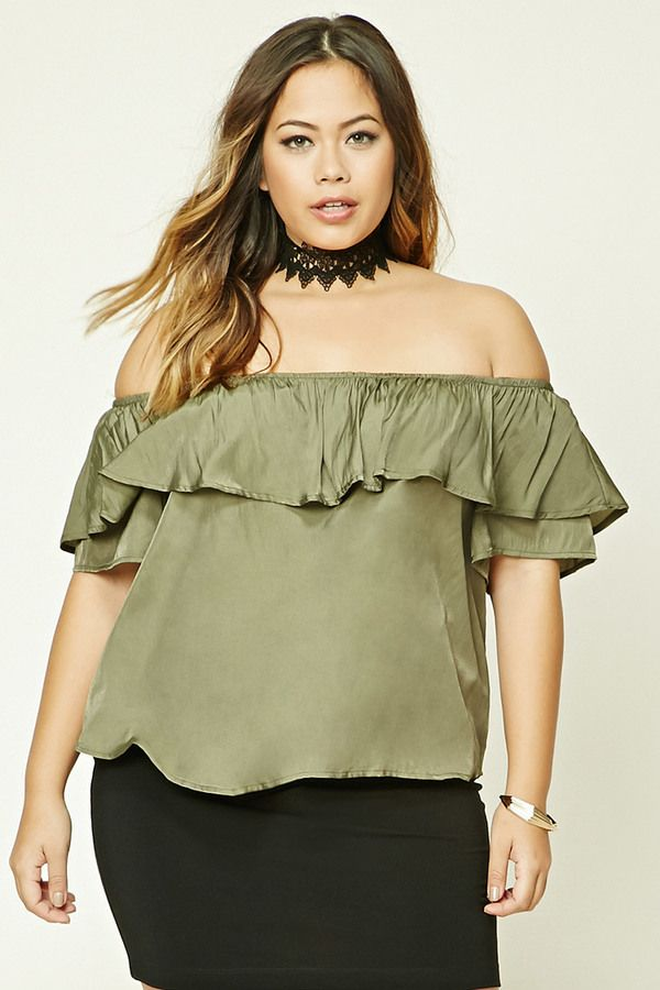1c8881b51a083 FOREVER 21+ Plus Size Off-the-Shoulder Top