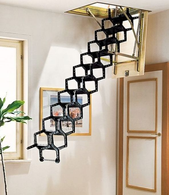 Stair Design Budget And Important Things To Consider: Pull Down Attic Stairs Design Ideas