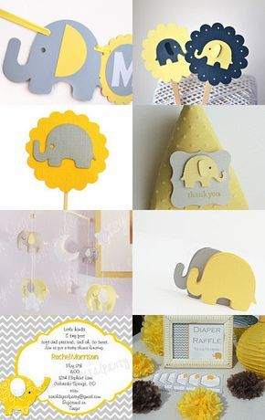 Planning the most beautiful grey and yellow baby shower? here is some inspiration !!!