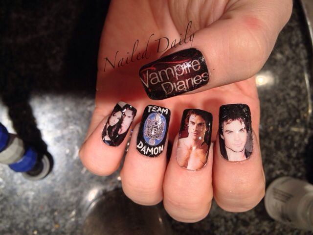The vampire diaries nail art design | Nails | Pinterest | Nail inspo ...