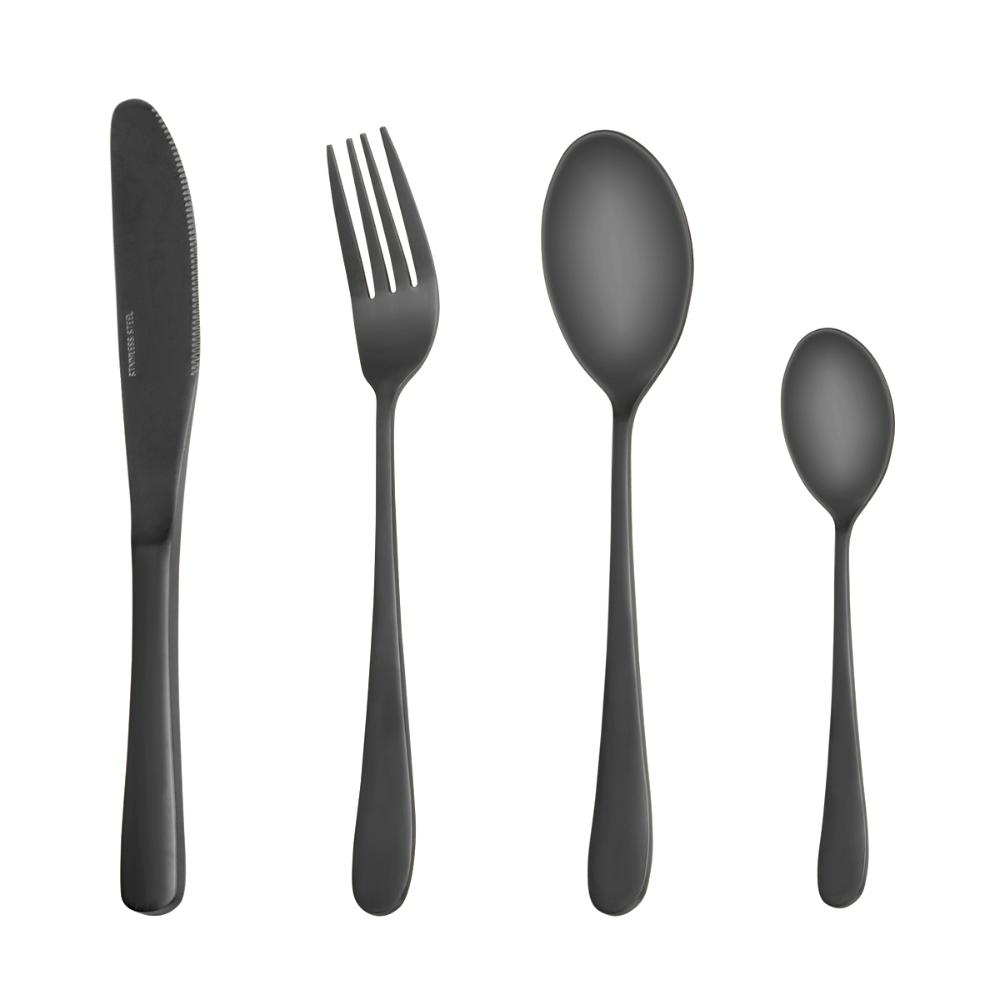 Black Wooden Box Flatware Utensils Set For 6 Lekoton 24 Piece Silverware Set For Gift Cutlery Set Include Dinner Knife Dinner Forks Dinner Spoons Teaspoons In 2020 Utensil Set Silverware Silverware Set