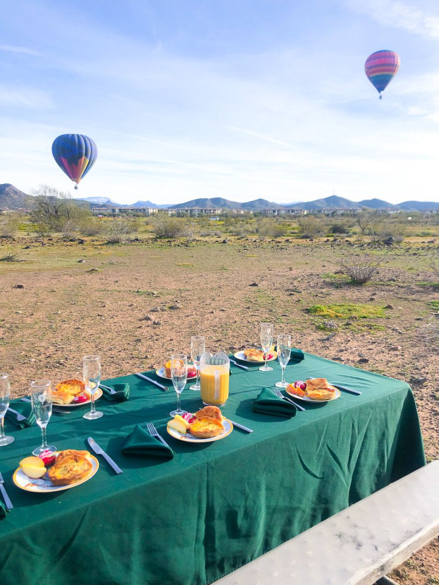 An Hot Air Balloon Ride in Phoenix with Hot