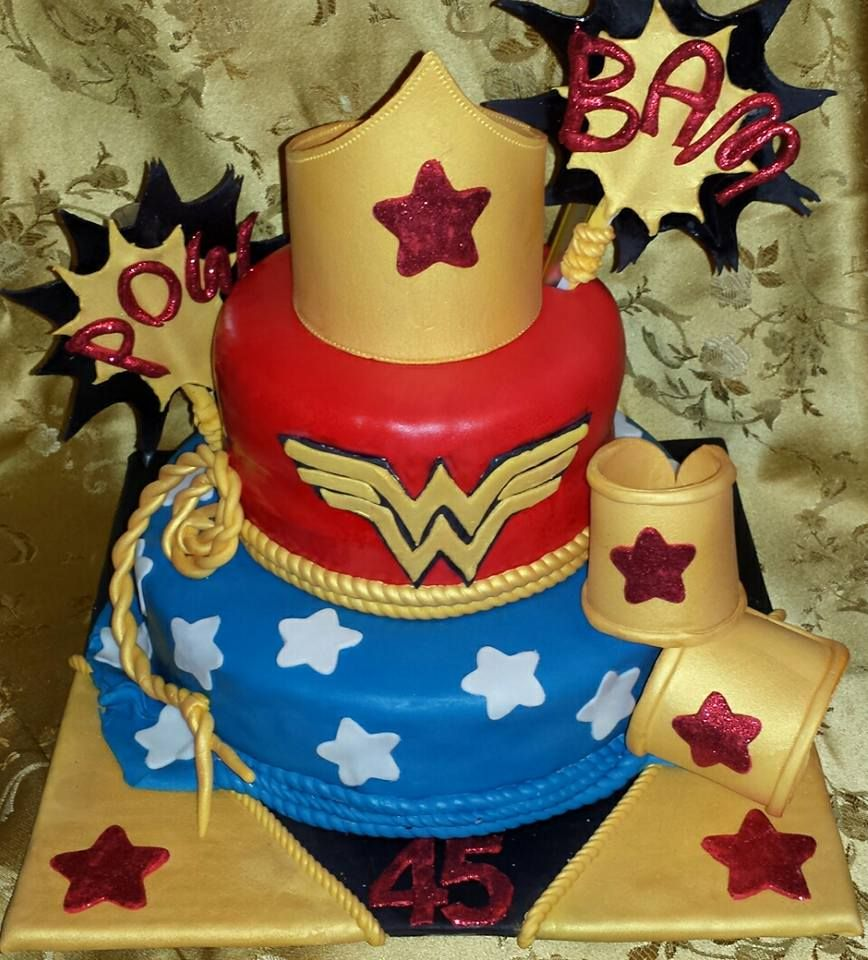 Wonder Woman Birthday Cake Vegan Red Velvet Los Angeles CA