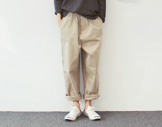 [daily cotton band pants]
