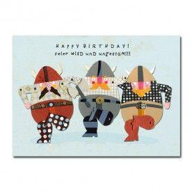 Postkarte Wikinger Happy Birthday Alles Gute Zum Geburtstag
