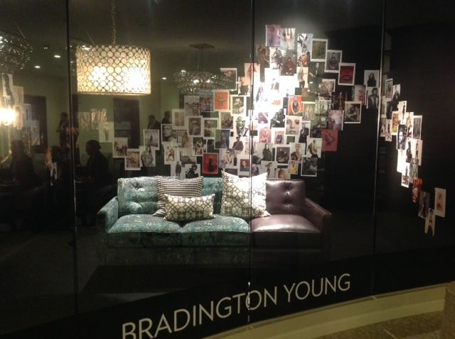 Dramatic Carpet Pattern Featured In This Bradington Young Sofa Window Display At Hpmkt Fall 2013 Lisa Sherr Window Display Patterned Carpet Visual Display