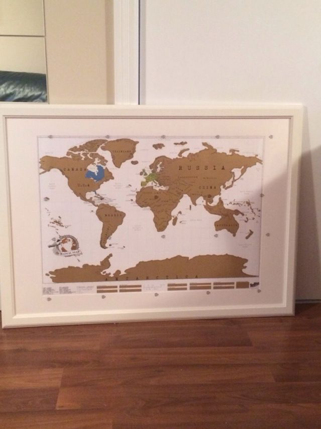 Scratch Map Chapters Custom frames scratch map from #chapters and #ikea | Inspiration
