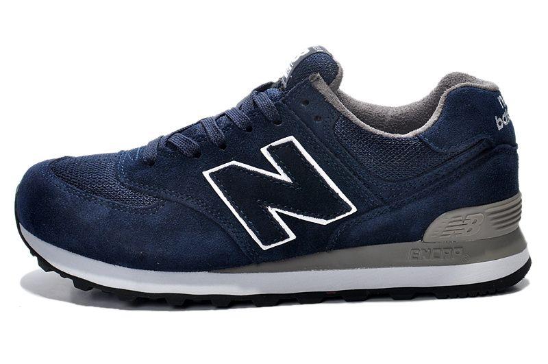 new balance 574 navy sneakers