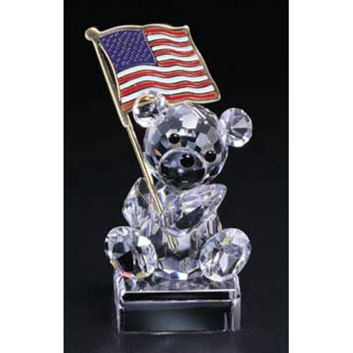 Large Patriotic Teddy Figurine
