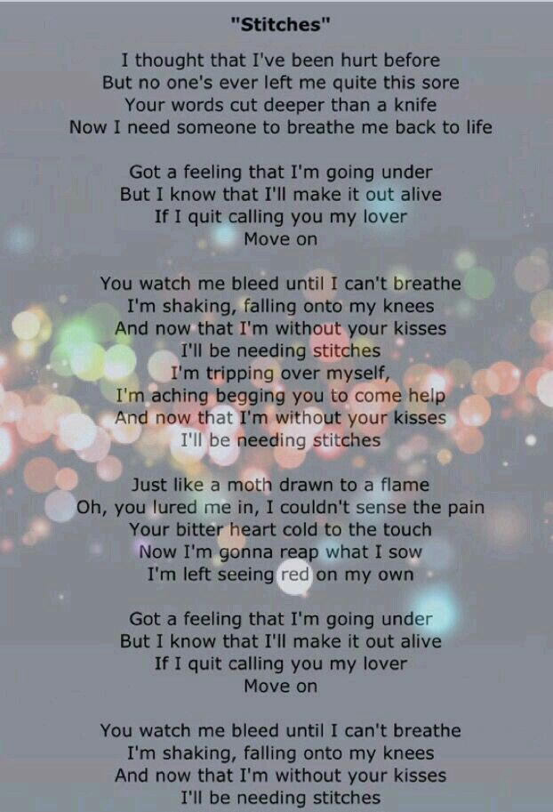 Stitches Shawn Mendes Shawn Mendes Song Lyrics Shawn Mendes Songs Shawn Mendes Lyrics