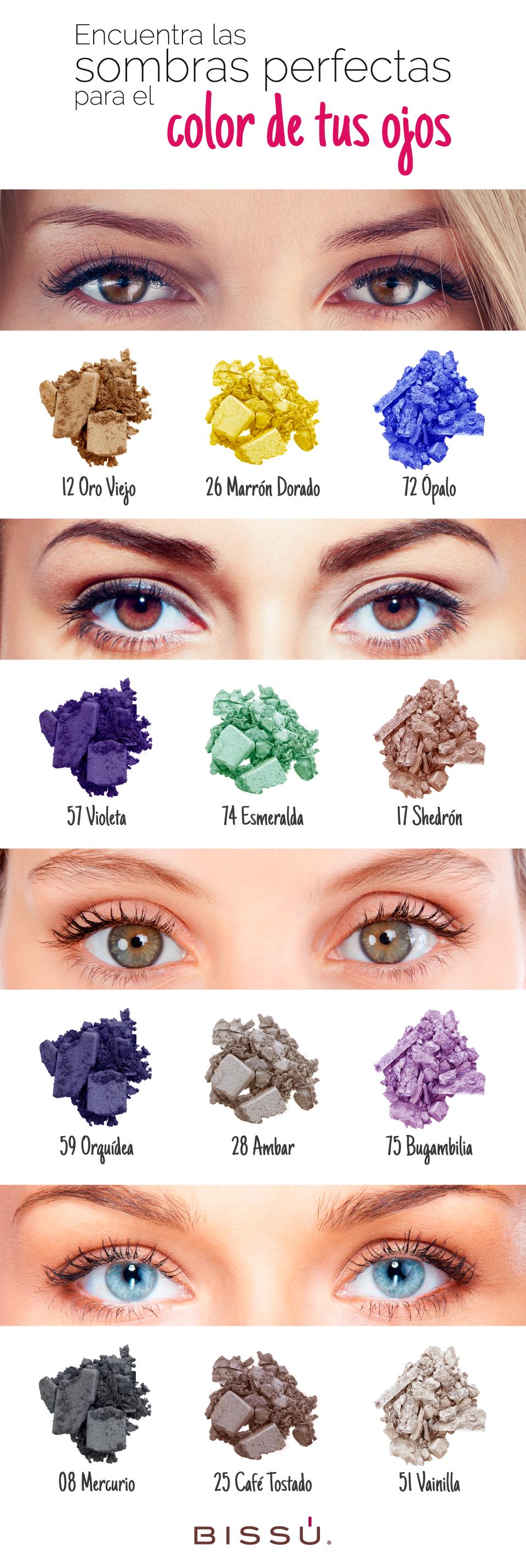 Escoge los colores perfectos para tus ojos.
