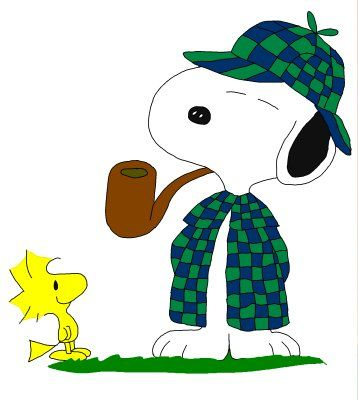 snoopysherlock2.jpg (358×400) | Snoopy, Snoopy cartoon ...