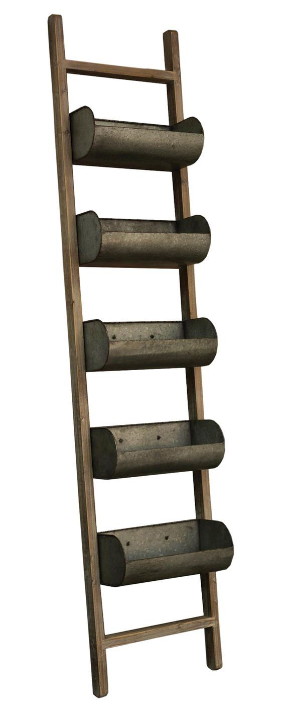 Ladder with planter boxes ladder projects pinterest for Old wooden ladder projects