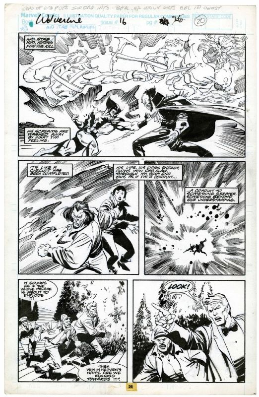 wolverine # 16 page 26 Comic Art
