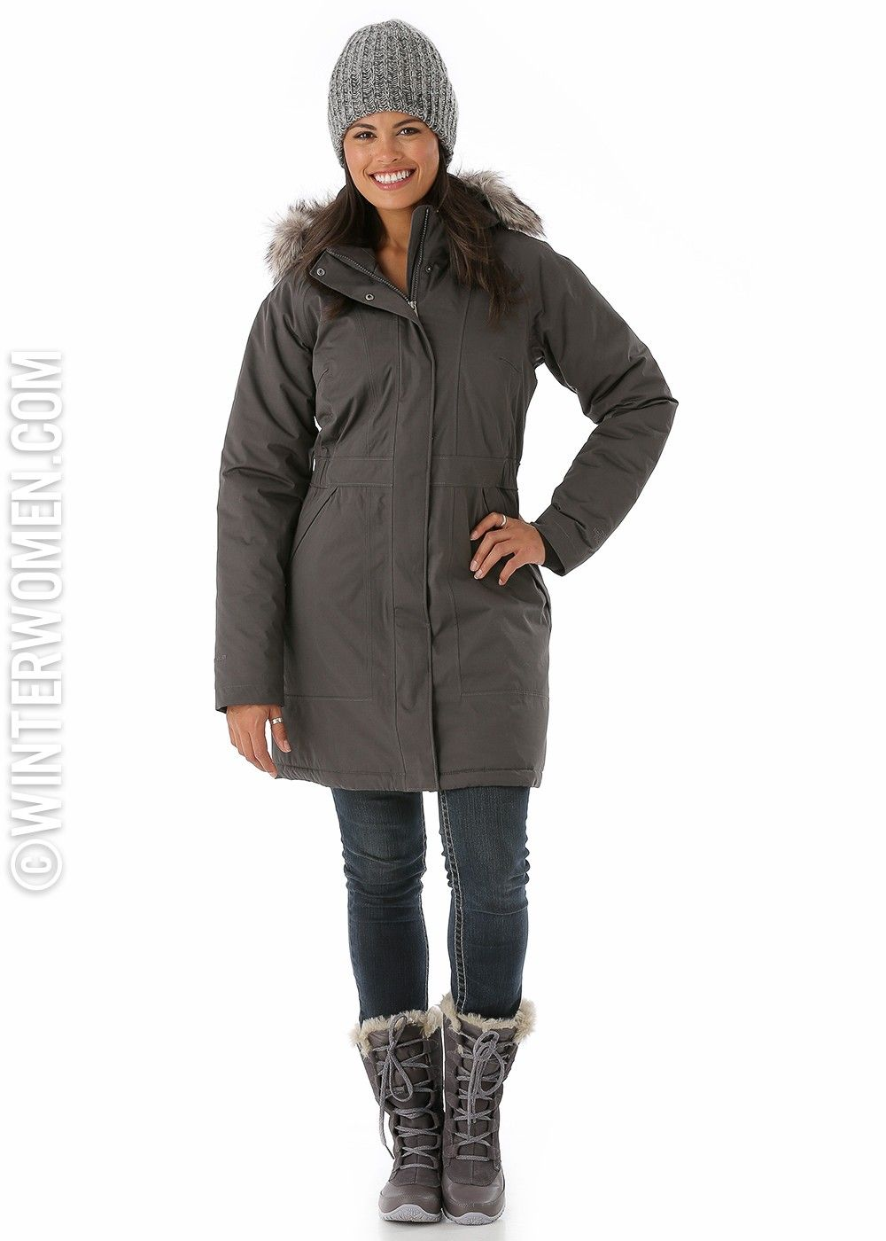 The North Face Women's Arctic Parka (Graphite Grey) | Winter ...