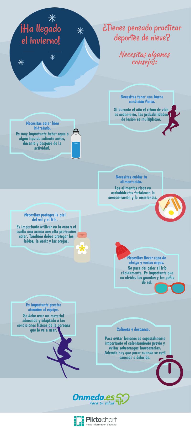 Consejos para practicar #deporte en invierno de forma sana.