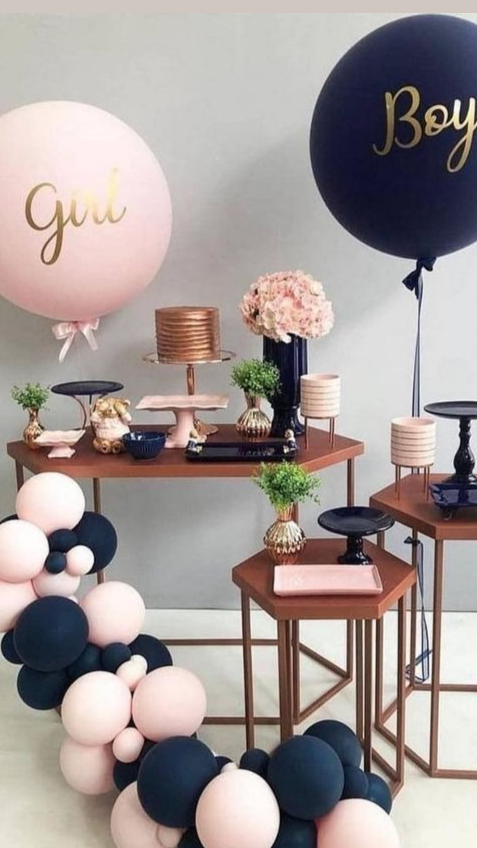 Black and Pink Gender Reveal Party Theme