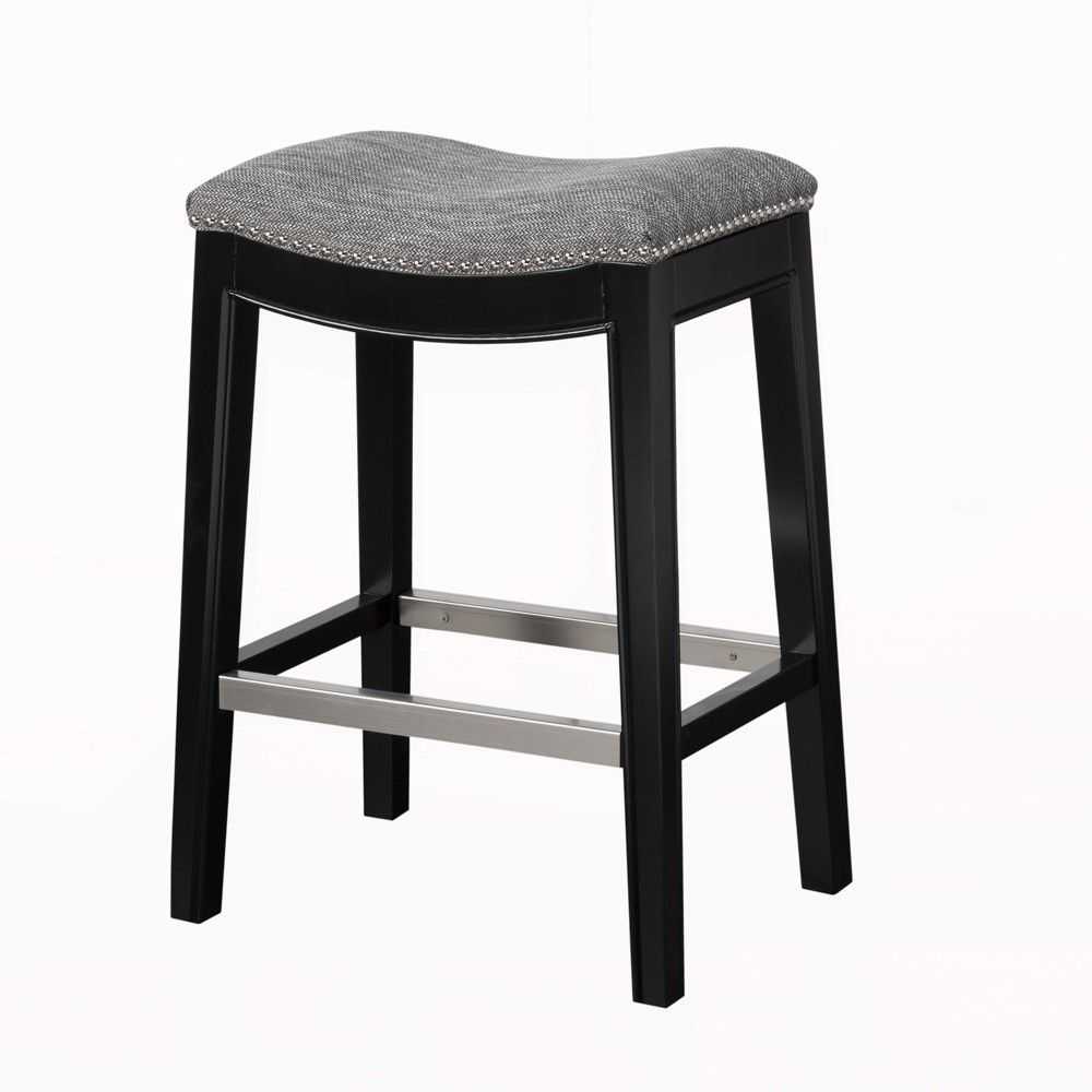 Astounding Westly Saddle Counter Stool Gray 27 Products Lamtechconsult Wood Chair Design Ideas Lamtechconsultcom