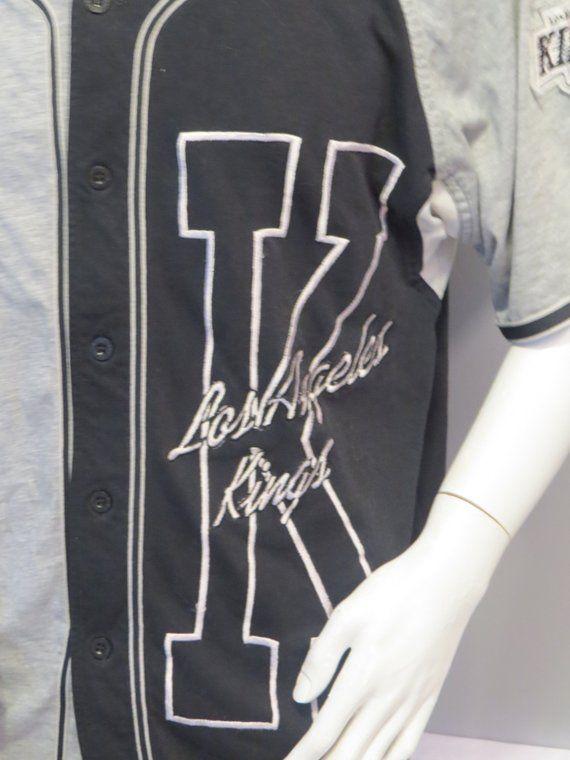 innovative design 464d2 0f68a LA Kings Baseball Jersey by Starter - Big K logo Two Tone ...
