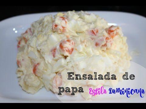 Ensalada de papa Dominicana | Cocinando Con Ros Emely - YouTube