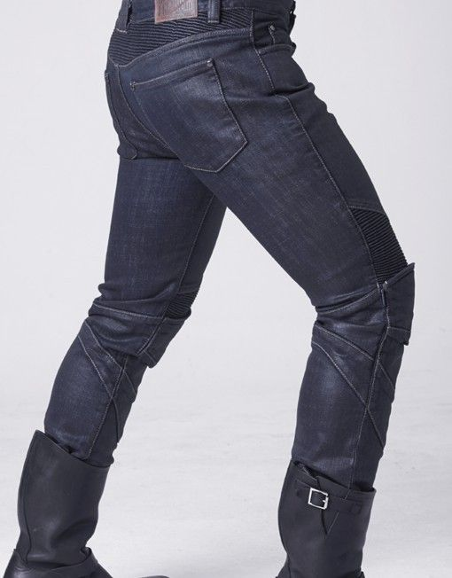 uglybros triton blue slim fit motorcycle jeans with pu. Black Bedroom Furniture Sets. Home Design Ideas