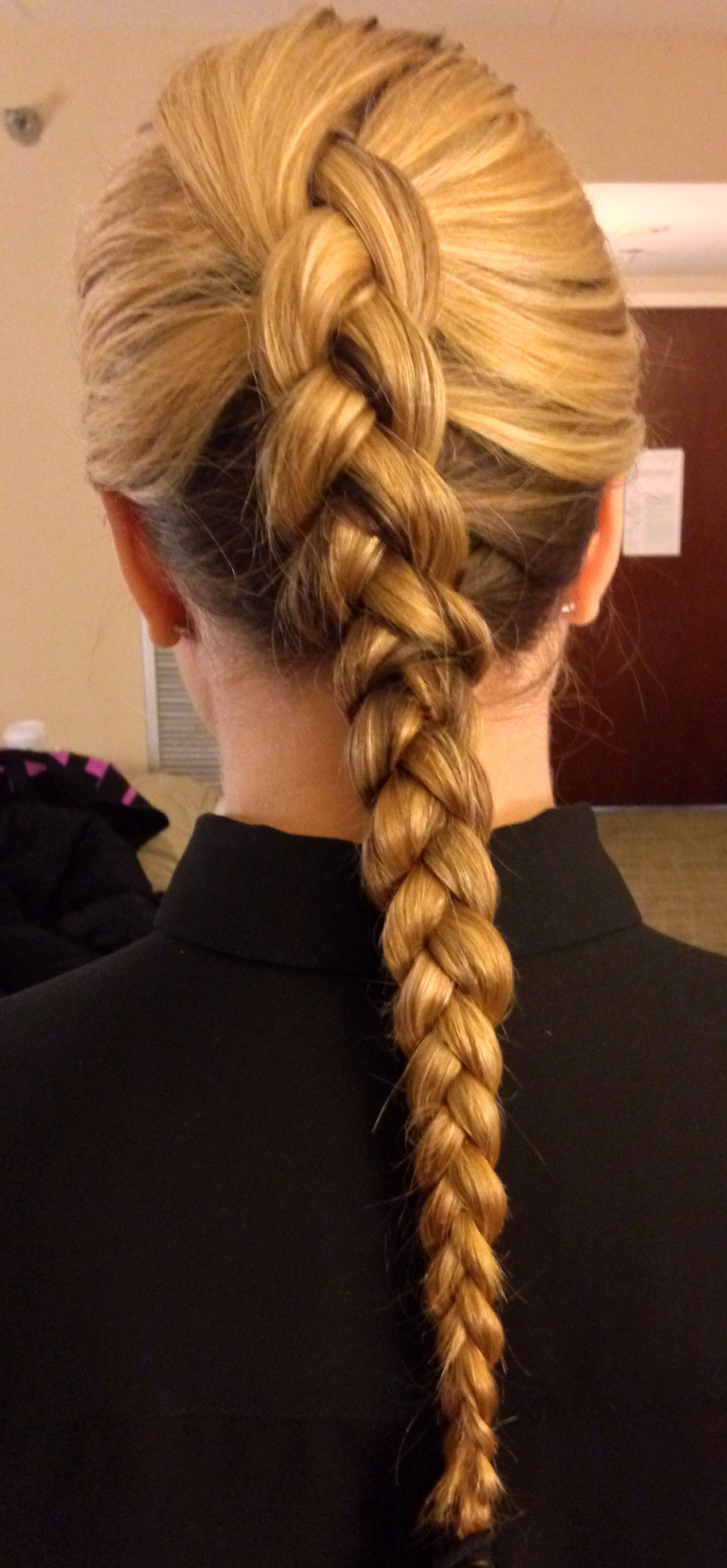 my hair for flight attendant training! | faa approved. | pinterest