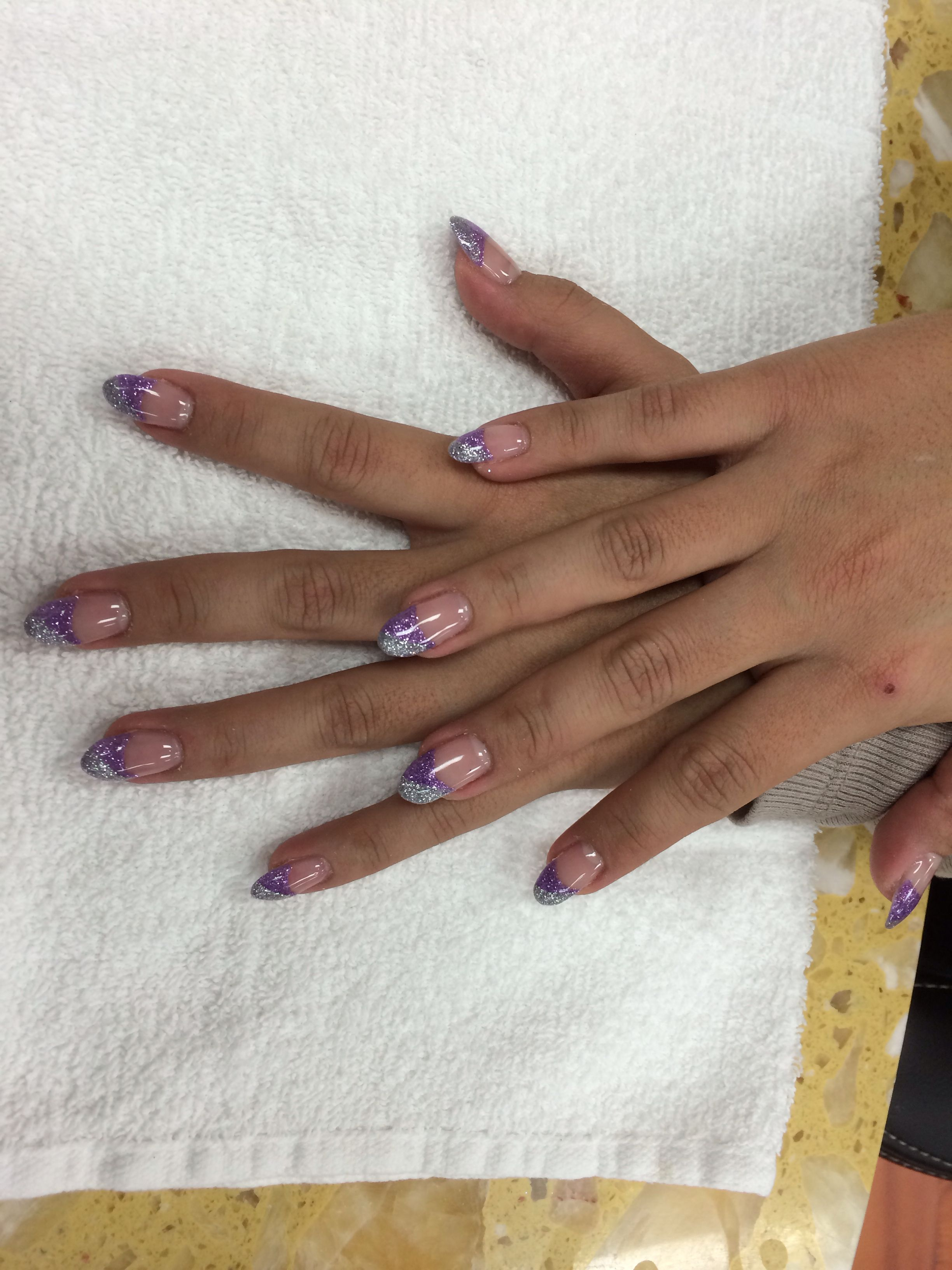 Stelio gel with gliters tips done by John at Terrace Beauty Nail ...