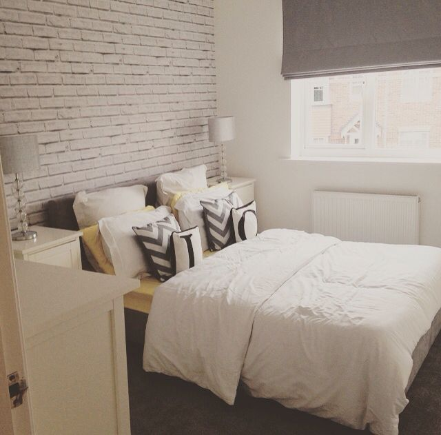 White Brick Wallpaper To Create Loft Style Boys Bedroom