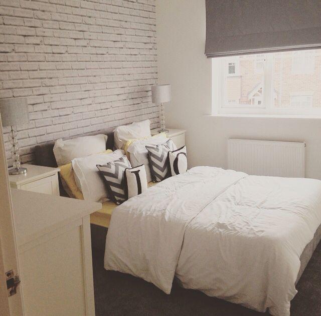 White Brick Wallpaper To Create Loft Style Boys Bedroom