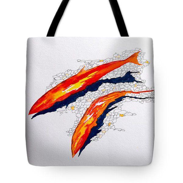 Richard Faulkner Tote Bags - Salmon Run Tote Bag by Richard Faulkner