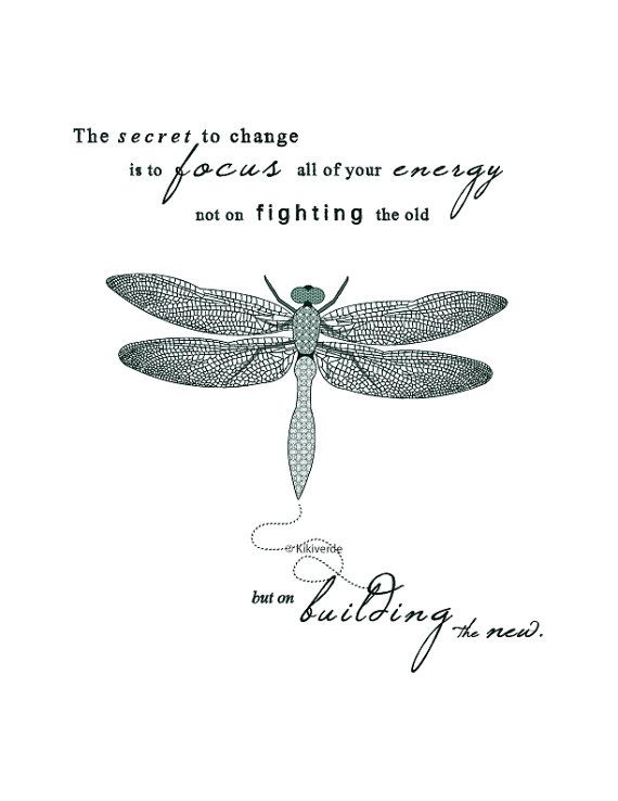Printable Artwork Dragonfly illustration typography art
