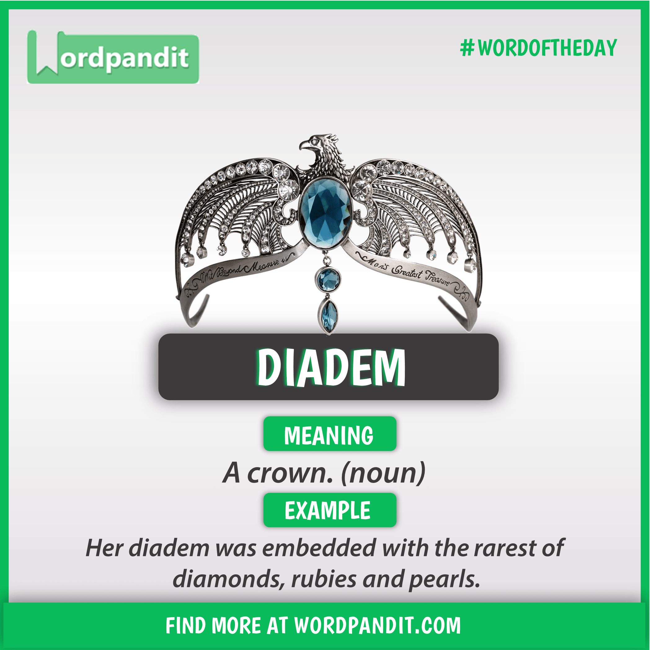 Meaning of Diadem | Vocabulary | English collocations