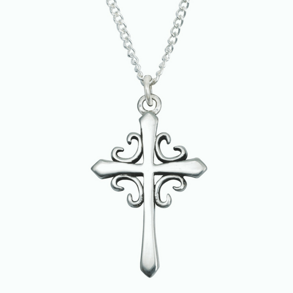 85c5e58c5 Handcrafted Sterling Silver Christian Necklace | French Cross | Bob Siemon  Designs