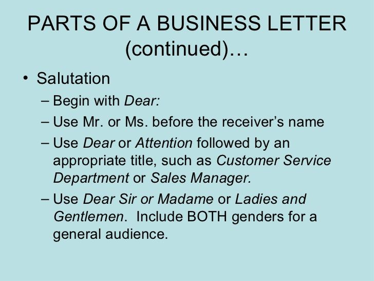 business letters power point presentation letter ppt Home Design - business letters