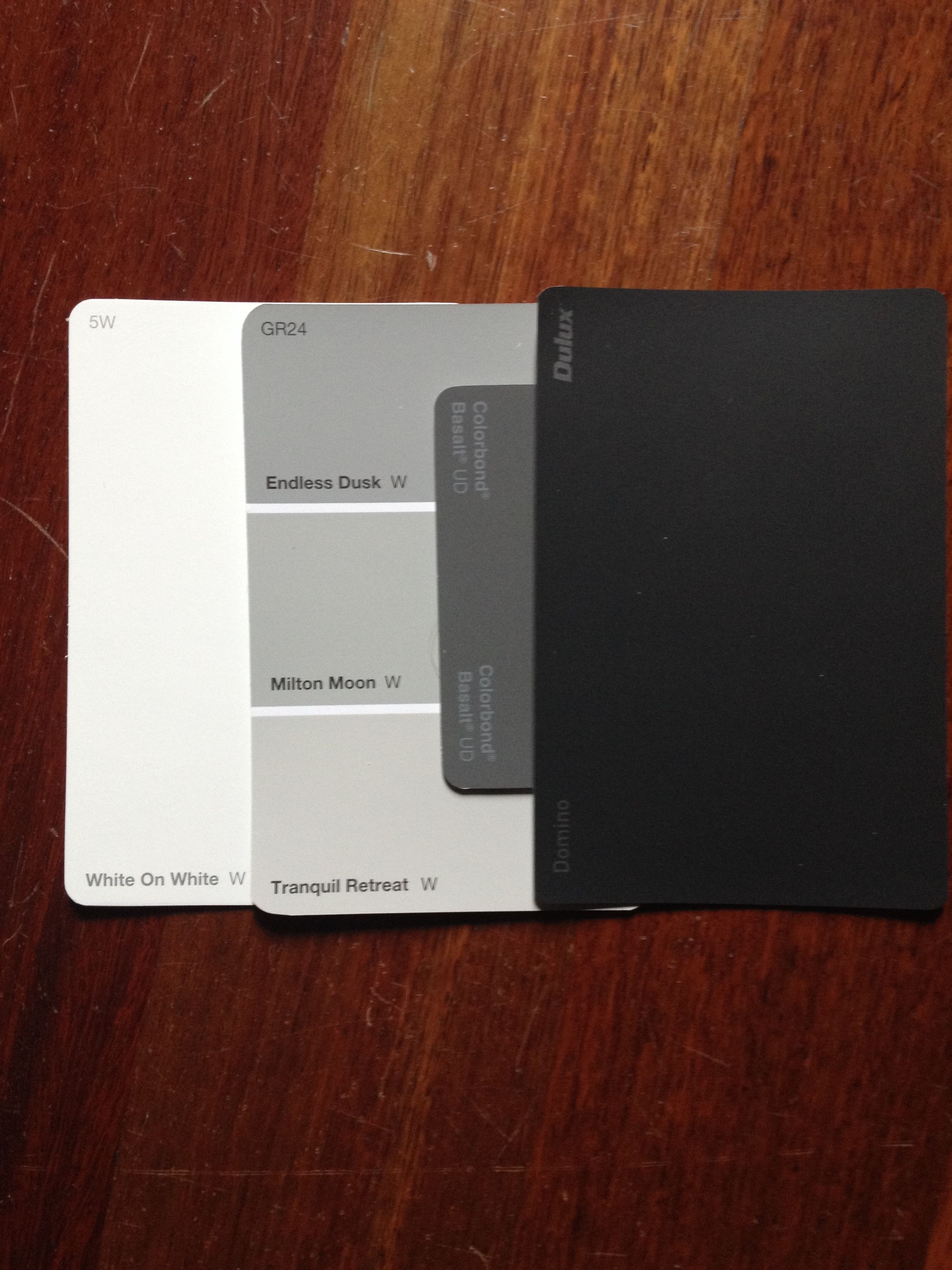 Exterior Colours I Think We Have The Winning Combination Colorbond Basalt R Exterior House Colours Dulux Exterior Paint Colors For House House Paint Exterior