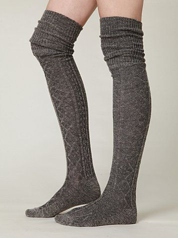 65dc91869f7e9 Vintage-inspired tall sweater socks with elastic stretch. Perfect to wear  under tall boots