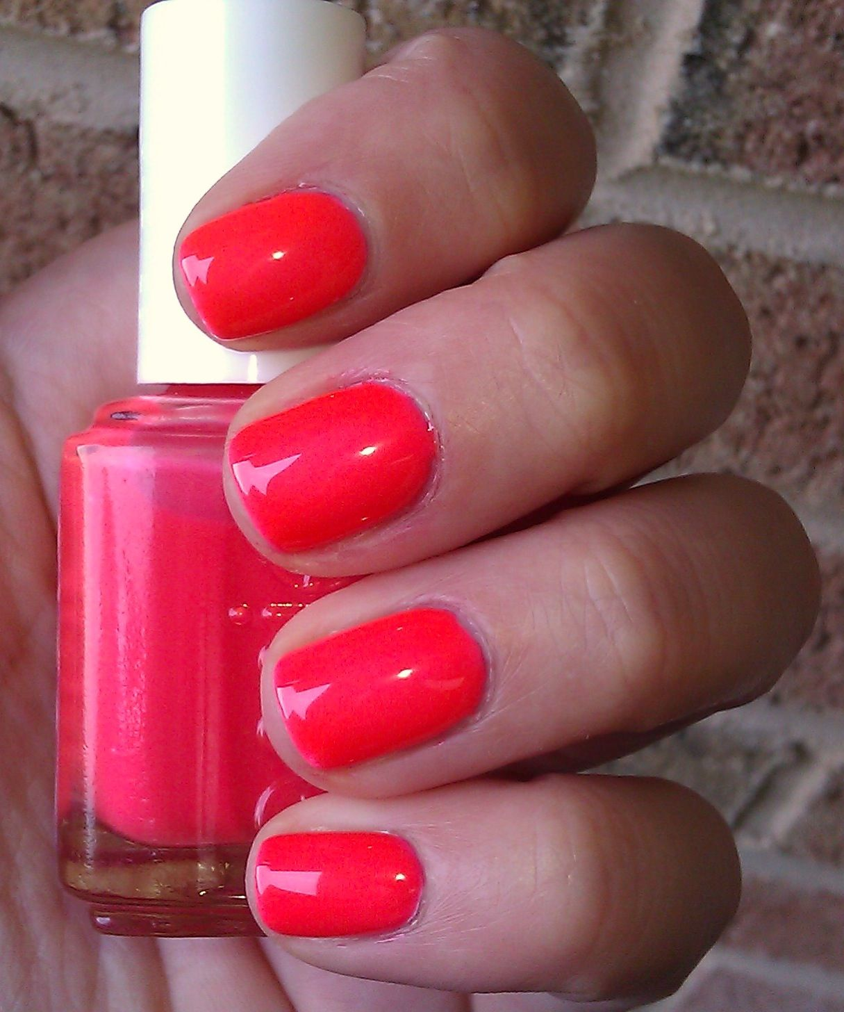 Essie Camera...looks hot pink in the bottle but comes out
