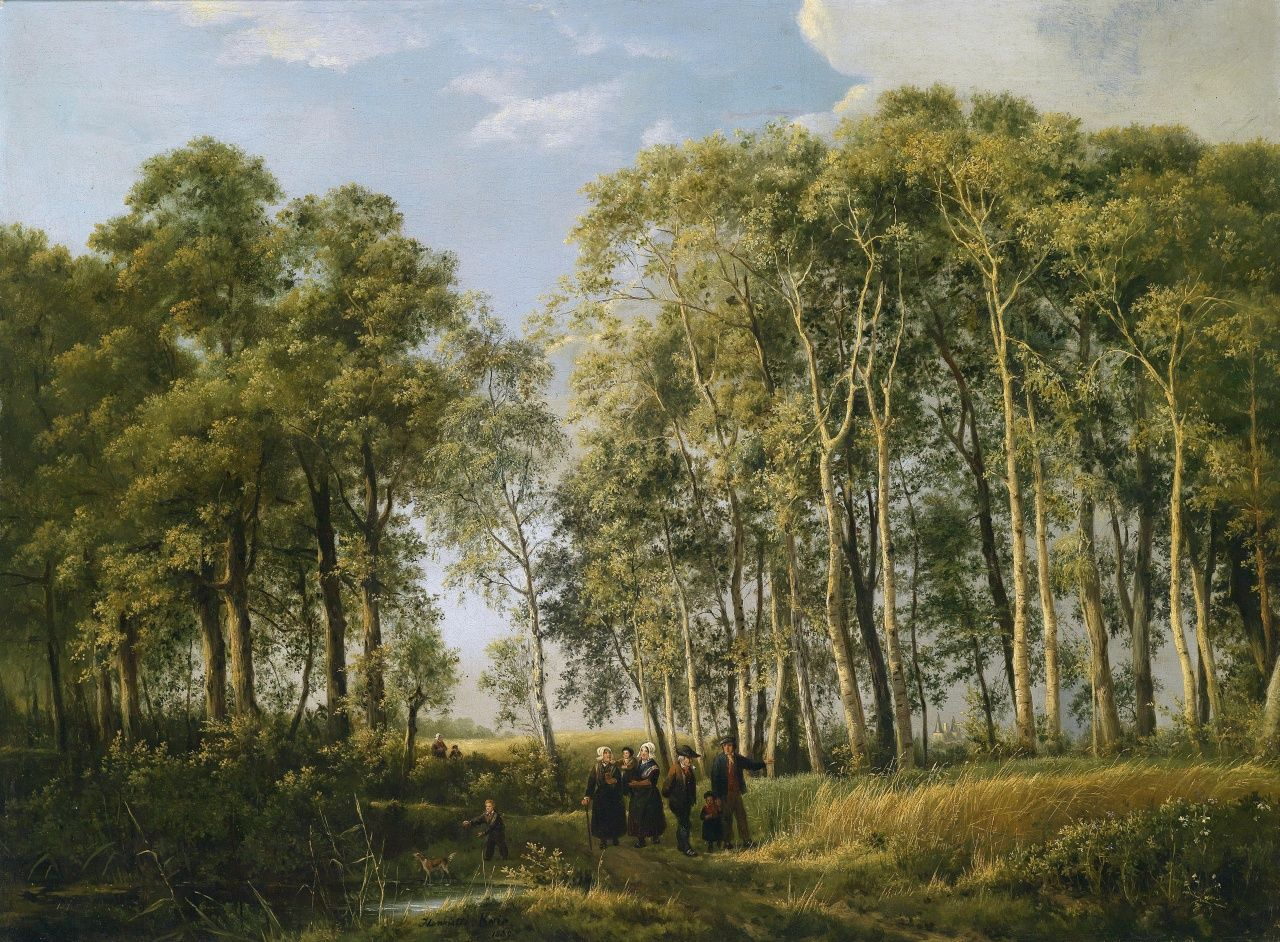 Henriette Geertruida Knip: Landscape with Figures, 1839.