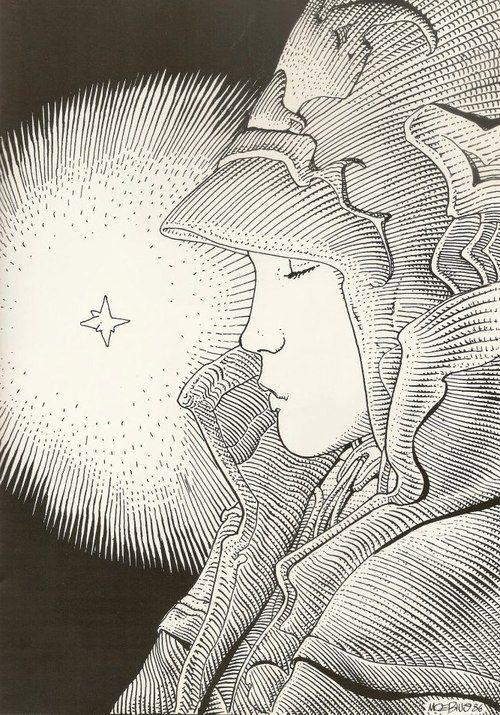 Illustration by Moebius (Jean Giraud) 1986.