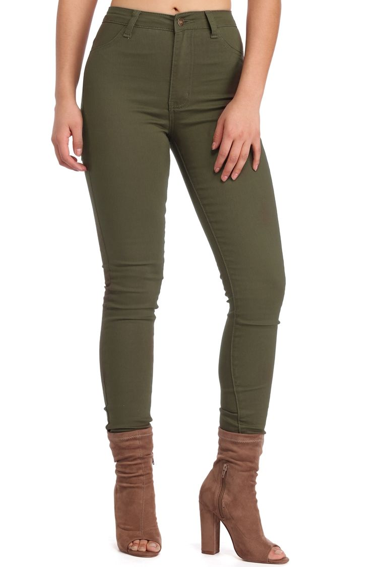 Olive Stand By Skinny Pants